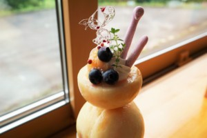カフェフルーツトピア「Happy Peach パフェ」